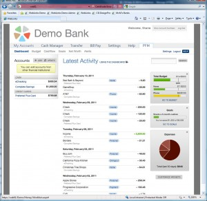 Demo Bank Dashboard