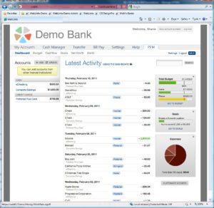 Demo Bank Dashboard