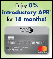 Enjoy 0% introductory APR for 18 months!