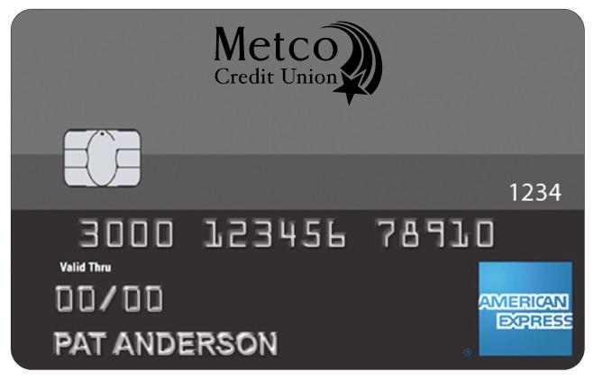 Metco Credit Union Amex Standard card image