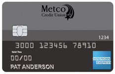 Metco Credit Union Amex Standard card