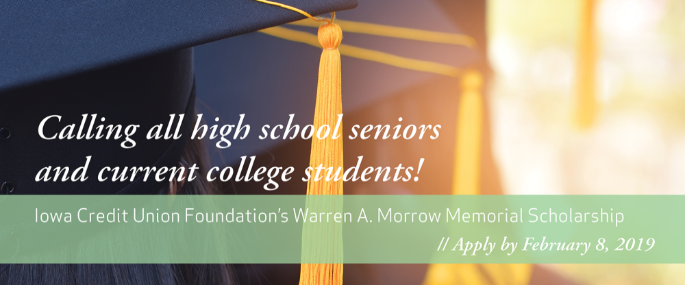 Apply for the Warren Morrow memorial scholarship.