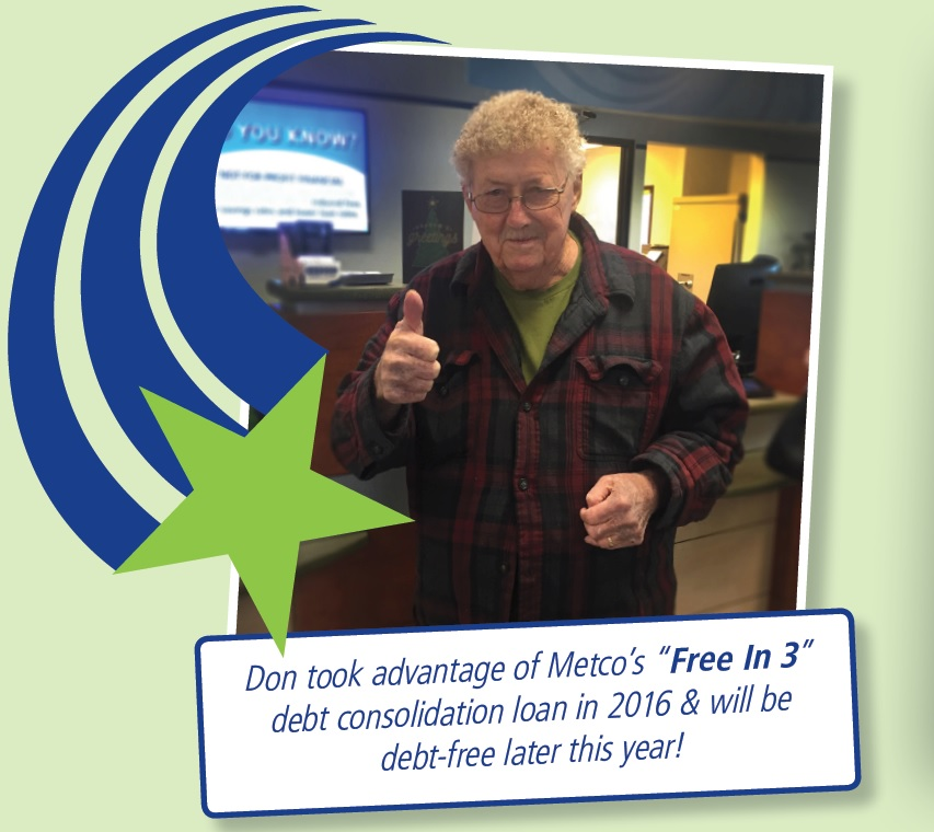 Don saved with our Free In 3 loan!