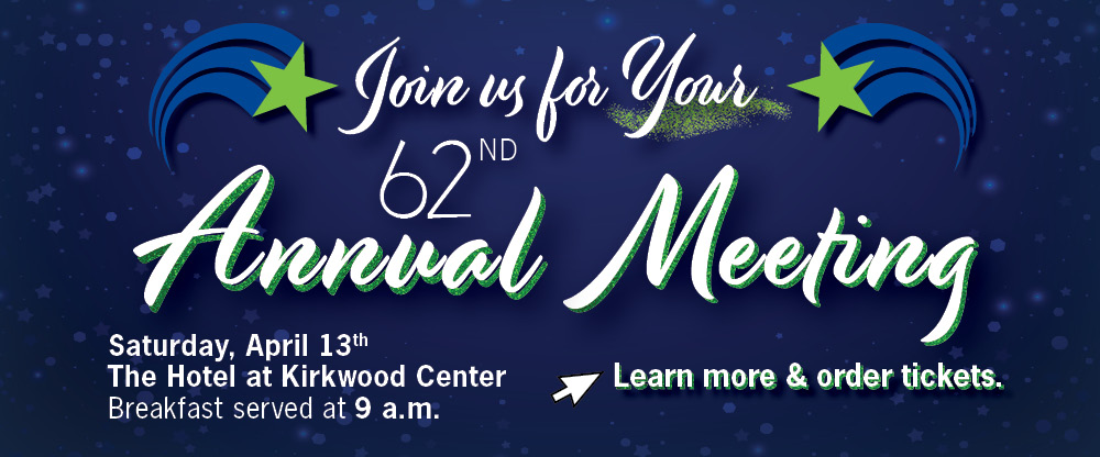 Attend our 62nd Annual Meeting!