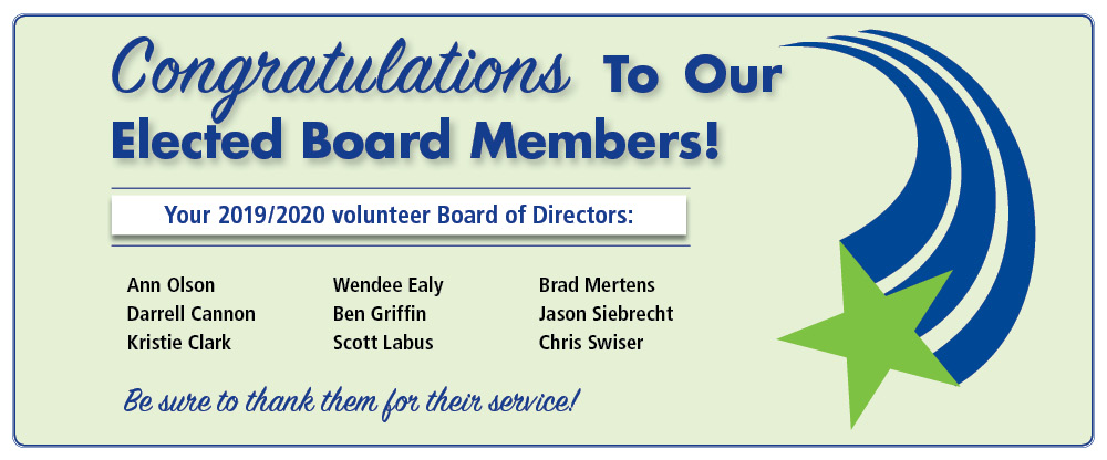 Congratulations to our elected board members!