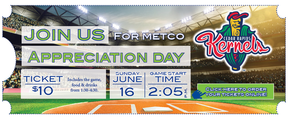 Attend our member appreciation event at a Kernels Game on June 16th! Call us to order your $10 tickets.