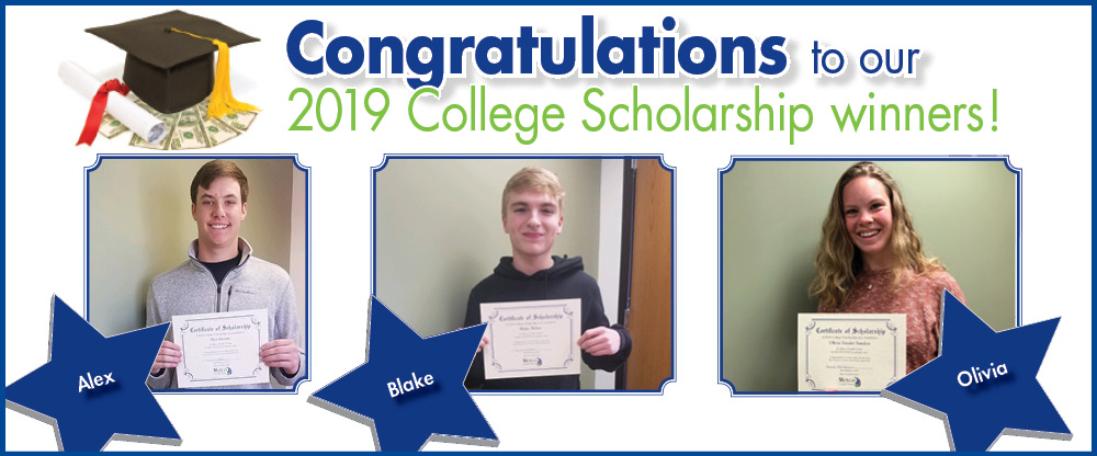 Congratulations to our 2019 Scholarship Winners!
