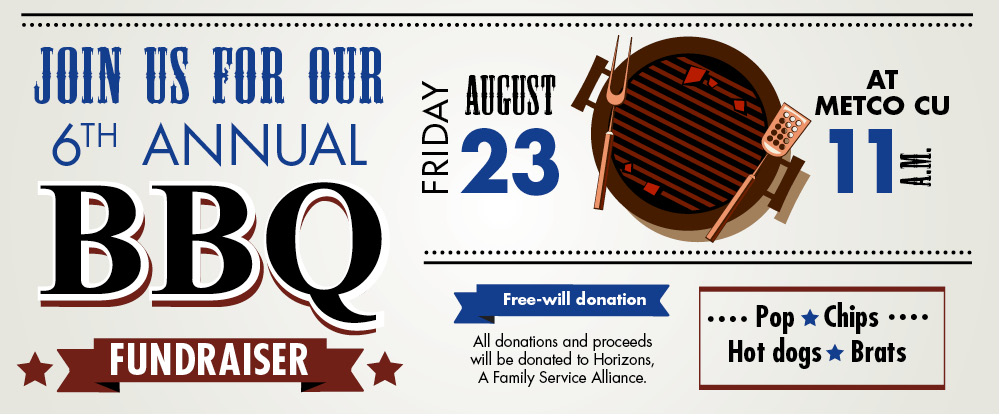 Join us for our 6th Annual BBQ Fundraiser on Friday, August 23rd at 11am!
