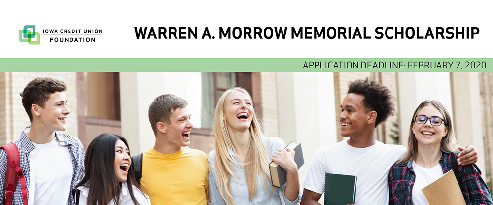 Apply for the Warren Morrow Memorial scholarship by Feb. 7, 2020.