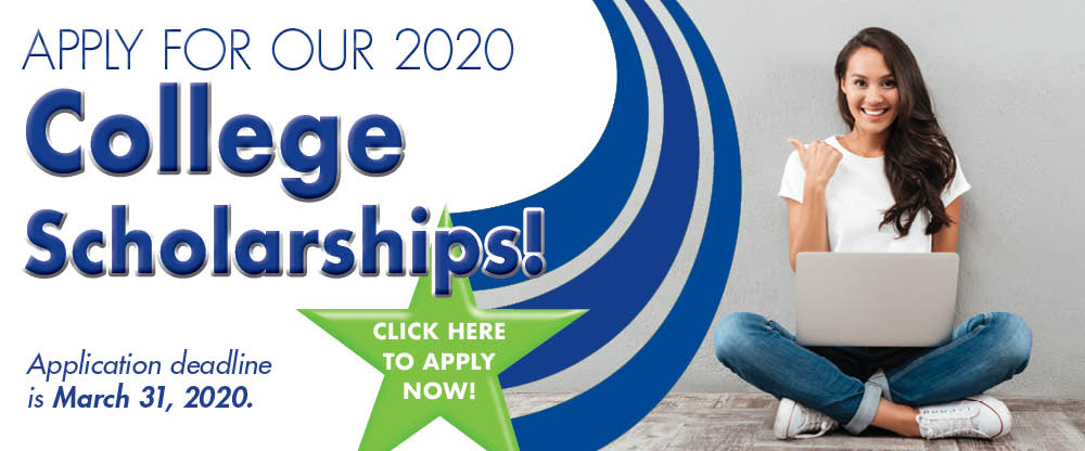 Apply for our 2020 College Scholarships