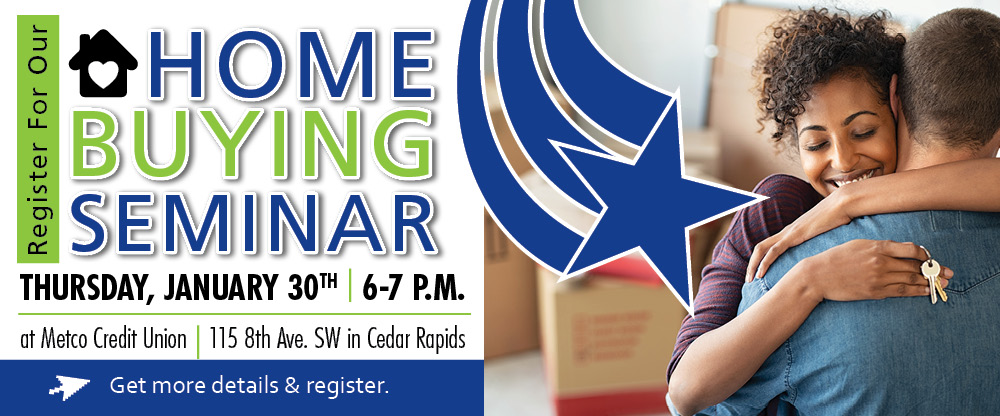 Register for our home buying seminar on January 30th!