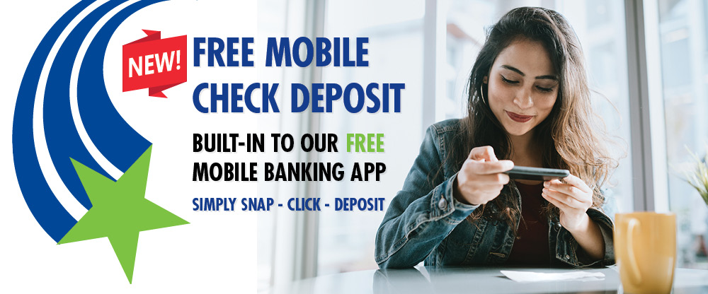 mobile check deposit is now built in to our mobile app