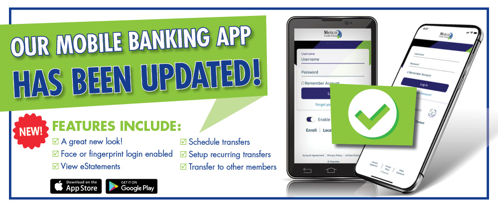 Download our updated mobile banking app