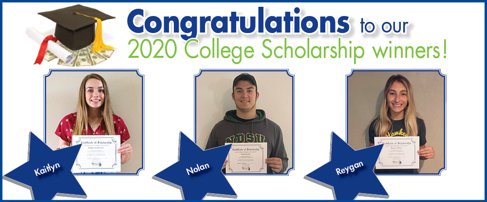 Congratulations to our college scholarship winners!