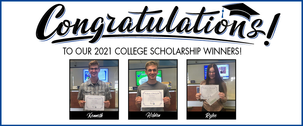 Congratulations to our 2021 College Scholarship Winners!